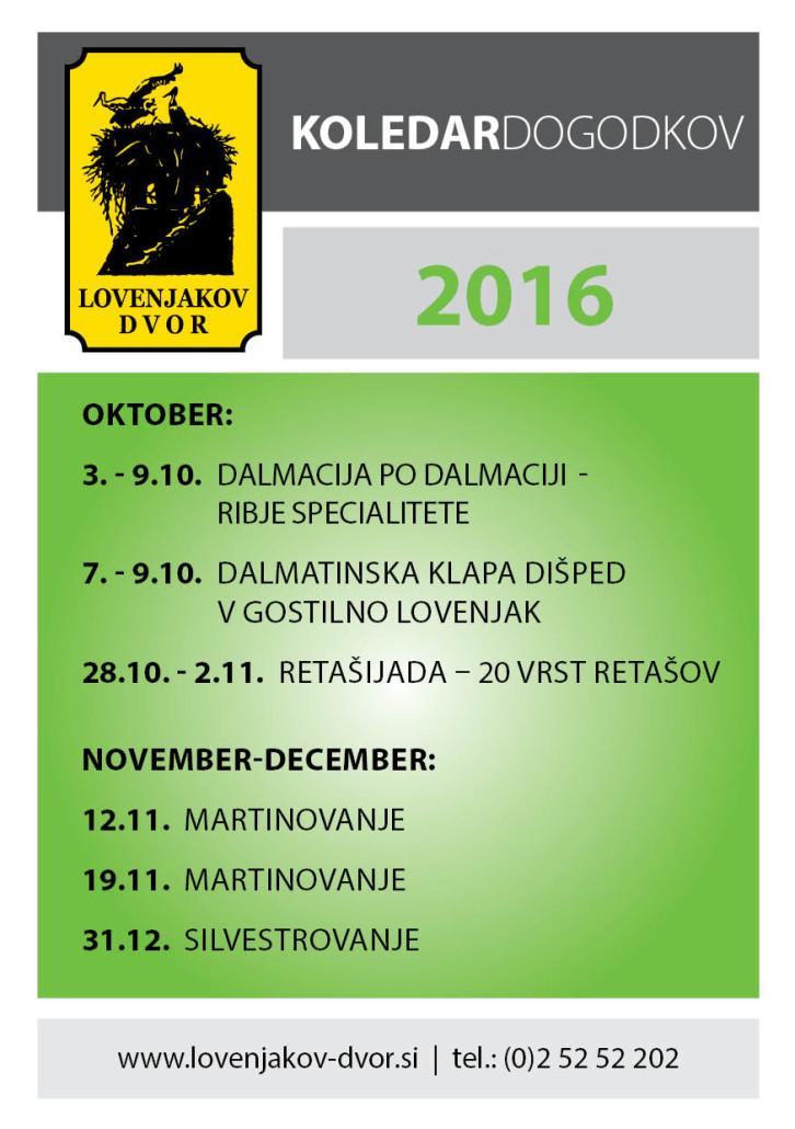 Koledar dogodkov 2016 - oktober in november
