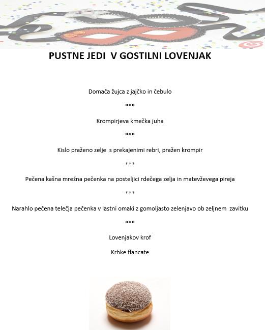Pustne jedi v gostilni Lovenjkak